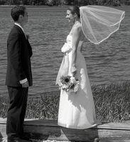 Wholesale organza veils - Hight Qualityr Best Sale Romantic Elbow White Ivory Organza Edge Veil Mantilla Veil Bridal Head Pieces For Wedding