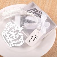 parti malzemeleri kronlar toptan satış-Taç Kitap Işaretleyici Metal Gümüş Zarif Beyaz Püskül Kolye Yaratıcı Kırtasiye Dekor Romantik Hediyeler Parti Malzemeleri 1 1tzb F R