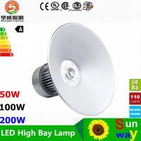 Wholesale Led Cool White Hanging Lights - LED high bay lights 50W 80W 100W 150W 200W super bright led hanging lamp for factory workshop stadium free shipping