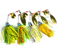 HENGJIA 4 pz / lotto 17.4g 0.61 oz Spinner Bait Fishing Lure Cucchiai Acqua Dolce Bassi Bassi Walleye Minnow Spinnerbait Lures
