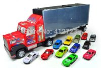 Wholesale Cars Discount Toys - Big discount ! 13 pcs Racing car and portable container truck ,Pixar Cars,Educational Toys Simulation model cars,Chrismas gift