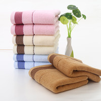 Wholesale Towels Kindergarten - bath towels baby towels washcloths Maternity kids baby bib cartoon cute towel for kindergarten children sweat and slobber 33X74CM