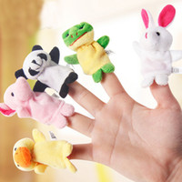 Wholesale Small Baby Hand Fingers - Mini Finger dolls baby tell a story Hand small animals show Christmas Halloween Child puzzle Hand dolls