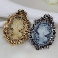 Wholesale Cheap Scarves China - Top Quality Austria Crystal Rhinestone Vintage Style Fashion Victorian Style Cameo Brooch Lady Scarf Brooch Pins Factory Direct Sale Cheap!