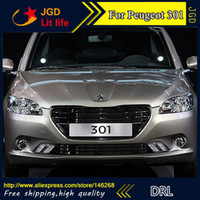 Wholesale Peugeot Led Daytime Running Light - Free shipping ! 12V 6000k LED DRL Daytime running light for Peugeot 301 2014-2016 fog lamp frame Fog light Car styling