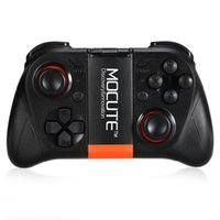 Wholesale Games Smartphone - Original MOCUTE 050 Wireless Bluetooth Gamepad PC Game Controller for Smartphone TV Box With Built-in Foldable Holder Wireless Game Joystick