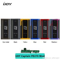 Original IJOY Captain PD270 TC Box Mod 234W NI / TI / SS TC Electronic Cigarette Vaper Power by Dual 20700 Battery vape mod