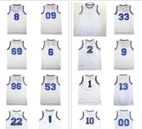 Wholesale Green Tune - Space Jam 2017 Men White Movie Jersey Tune Squad Shirts Bugs Lola ,all Number Player #1 #22 #10 #2 #00 #69 #23 #13 #33 #09 Free Shipping