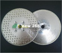 Wholesale Diamond Grinding Cutting Discs - 2pcs Single sided Electroplated Diamond cutting & grinding discs for marble and granite with M14 Flange