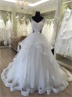 Wholesale Dress Wedding Suzhou - Real Picture V Neck Beaded Lace A Line 2016 Long Floor Length Custom Made Formal Bridal Gowns Designs NW027 Suzhou Wedding Dress