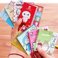 Cute Cartoon Totoro Hola Kitty Doraemon Baymax autoadhesivo Bloc de notas Sticky Notes Post It Bookmark Escuela de suministros de oficina