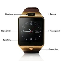 Bluetooth Smart Watch DZ09 gold Relojes Smartwatch Relogios TF SIM-камера для IOS iPhone Samsung Huawei Xiaomi Android Phone