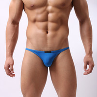 Wholesale Bikini Low Rise Underwear Men - Wholesale-B1133 Men Sportswear Swimming Briefs Sexy Bikini low rise Smooth Underwear Swimwear Spandex Beachwear Brave Person