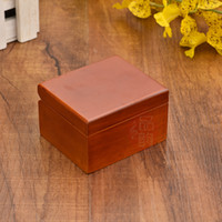 Wholesale Alice 18 - Tune for Alice mini wooden musical box 7.5*6.5*4.8CM wood color with 18 note wooden up golden msucial movement