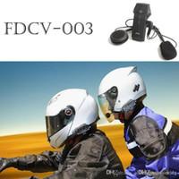Wholesale Hands Free Bluetooth Motorcycle - New Arrival! 1000M BT FDC Motorcycle Helmet Wireless Bluetooth Headset Headphone Intercom Interphone NFC Hand Free Speaker Helmet