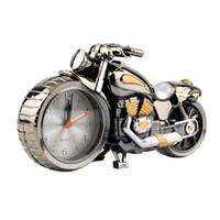 Wholesale Motorbike Alarm Clock - New Creative Motorcycle Motorbike Pattern Alarm Clock Desk Clock Creative Home Birthday Gift Cool Clock