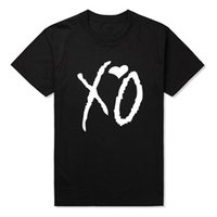 Wholesale Supporting Letter - XO Heart Hip Hop Men T Shirts Fashion Brand Man Tops Casual Harajuku Funny T-shirt Slim Fit Tee Shirts Short Sleeve Support Print
