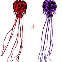 pipas do polvo venda por atacado-New-4m-ONE-SET-OF-TWO-single-Line-Stunt-Octopus-Polvo-Sport-Kite-New-4m-ONE-SET-DE-DOIS-single-Line-Stunt-Octopus-PODER-Sport-Kite