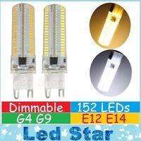 Wholesale High Power Led G4 - G9 G4 E12 E14 Led Corn Lights High Power 15W Dimmable Led Bulbs Light 152LEDs SMD Led Lights AC 110-240V