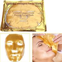 Wholesale collagen crystal face masks resale online - New Arrival Popular Gold Bio Collagen Facial Mask Face Mask Crystal Gold Powder Collagen Facial Mask Moisturizing