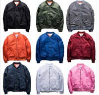 Wholesale pink coat stand - MA1 Bomber jacket pink women jackets men KANYE WEST Sport Suit Parkas hip hop coats streetwear zipper pockets