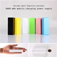 Wholesale Battery Iphone Mah - Mobile charger power bank 2600 mah perfume section portable USB backup battery charger iPhone smartphone HTC samsung