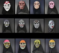 Halloween Terrorist Mask EVA Máscara Traje Party máscaras Somente Mais Terror Face 12 Designs Atacado YW186