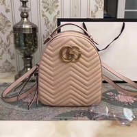 Wholesale Backpack Woman Canvas - Marmont backpack women famous brands backpacks leisure school bag fashion leather quilted mochila luxury designer women bags