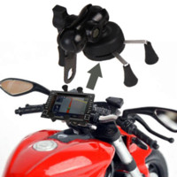 Wholesale Iphone Carbon Vinyl - Car Bicycle Motorcycle 3.5-6 inch Phone Stand Holder With USB Charger Power Outlet Socket for iPhone Samsung