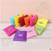 Wholesale Grocery Shopping Bags - 500pcs CCA4027 Candy Color Baggu Bags Eco-friendly BAGGU Bags Easy To Carry Folding Shopping Bags Shopping Bag Storage Grocery Bag