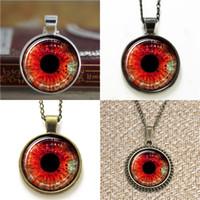 rote böse augenschmuck großhandel-10pcs Red Eye ASD20 drittes Auge Schmuck Evil Eye Anhänger Halskette Schlüsselanhänger Lesezeichen Manschettenknopf Ohrring Armband