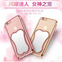 TPU carving relief - Makeup Magic Mirror D Metal Relief Carved Transparent Soft TPU Full Cover Case For iPhone SE S S Plus quot quot