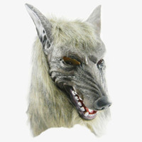 Wholesale Gray Wolf Costume - Werewolf Ani-motion Adult cosplay latex Mask Beast Wolf California Costumes Halloween H013