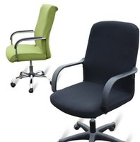 Wholesale Fabric Arm Chairs - Chair covers for the conference head chair covers arms rotation computer Home Office Color Polyester Spandex chair covered