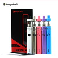 Wholesale E Cigarettes Refills - 100% Original Kanger Subvod Starter Kit 1300mA With 3.2ml Top Refilling Toptank Nano Tank 0.5ohm SSOCC Coil E Cigarette kits