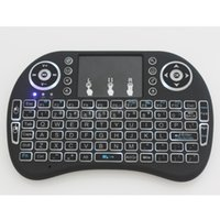 Os mais recentes Backlight Mini Wireless Keyboard 2.4GHz Fly Air Mouse Keyboard Touchpad Remote Control For Android TV Box Notebook Tablet PC DHL grátis