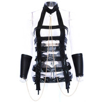 Wholesale Women Catsuit Latex Sex - Erotic Leather Latex Catsuit Sexy Lingerie with Sexy Collar Handcuffs Women Sex Bondage Body Harness Lingerie Costumes Babydoll