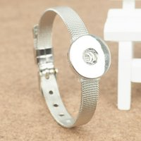 Wholesale Animal Can Watch - fashion silver plated metal Snap bracelets watch belt snaps bracelet DIY buttons Jewelry can Fit 18mm Buttons