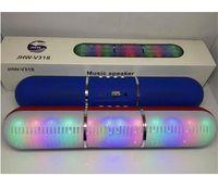 nova pílula orador venda por atacado-Novos Pulso Pulsos Led Flash de Iluminação JHW-V318 Portátil Sem Fio Bluetooth Speaker Bulit em Mic Handsfree Suporte FM