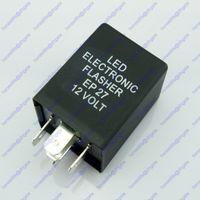 Wholesale Led Turn Signal Flasher Fix - 12V 5-Pin Turn Signal Indicator Flasher Relay Fix LED Hyper Flash Decoder EP27 Free shipping