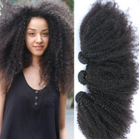afro, das haareinschlagfaden trägt großhandel-Günstige Mongolian Verworrene Lockige Haarwebart Bundles, Romantik Afro Mongolische Verworrene Lockige Haareinschlagfaden Erweiterungen, 10-30 '' Afro Lockiges Menschliches Haar