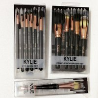 Wholesale Make Up Brush Set Black - Kylie Jenner cosmetics Makeup Brushes foundation powder blush Makeup Brushes High Tech Make Up Tools Professional Makeup Brush set