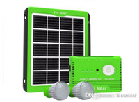 Wholesale Solar Portable Generator System - Portable mini 5W Solar LED Light system solar generator portable solar power system