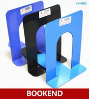 Gros-métal durable Book End, Holder clayette, Home Office Bookshelf Bookends comme Book Organizer