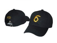Wholesale Gold Golf Balls - best quality Drake Octobers Very Own Snapback Cap Drake God 6 Hat Praying Baseball Hat Golf Cap strapback Gold Drake Hat