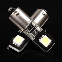 Wholesale Se Instruments - BA9S T10 191 2 5050 SMD LED Vehicle Car Canbus Error Free Lamp Bulb White super bright indicator light