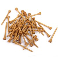 Tee da golf professionali in legno 83MM Long 100Pcs Burlywood