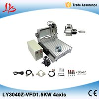 Wholesale Cnc Router Machine Water Cooling - 4axis 3040 cnc router machine with 1500W water cooled spindle to Rusisa free tax