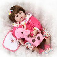 "Wholesale Cheap Silicone Doll - Dolls Accessories Dolls New cheap 20"" Adora Lifelike Toddler Baby Alive Boneca Girl Kid Doll Bebe Reborn Menina de Silicone Toys"
