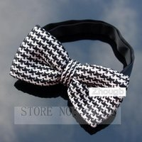 Cravatta del cachemire dell'uomo del Knitted Bowtie Fashion Cravatta dell'arco del Brown Pre-legato registrabile pic show 12 * 6CM (NO: 02)
